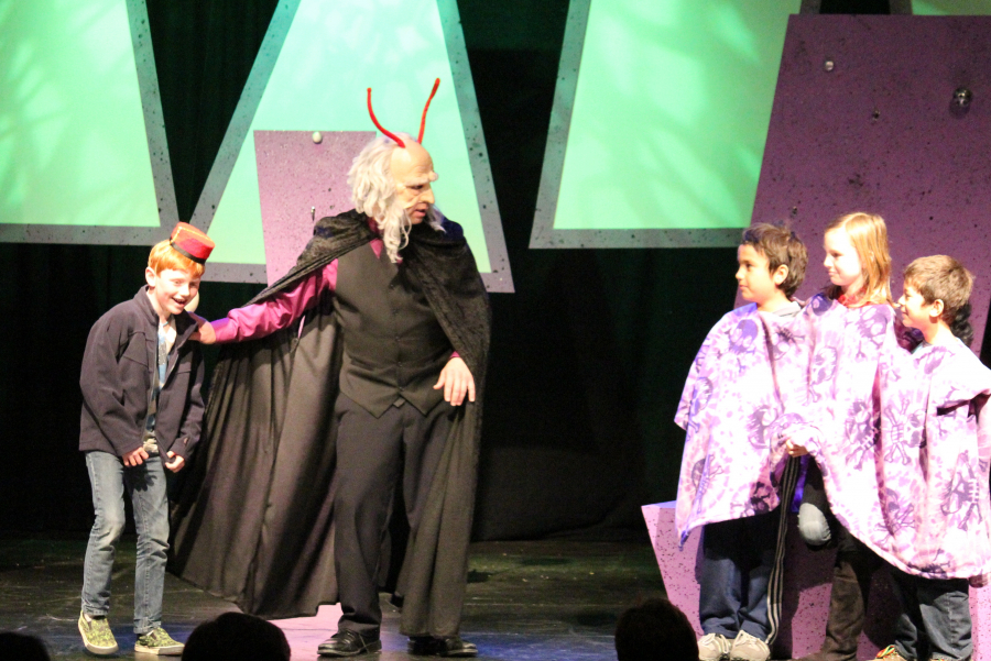 They meet the Three-Headed Space Wizard!  Eureka Theater, San Francisco CA, 2011