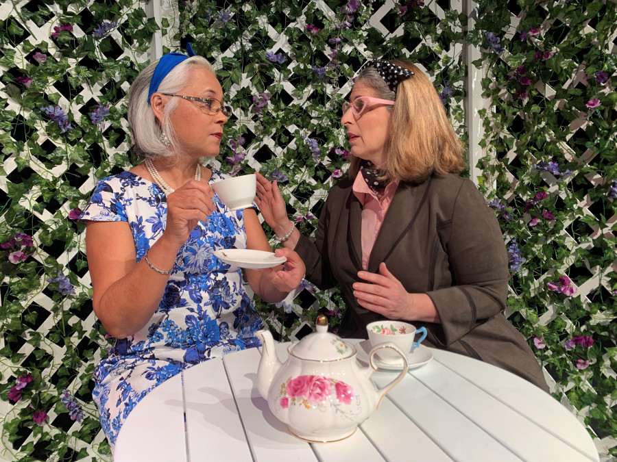 Two-ladies-at-tea-in-the-garden